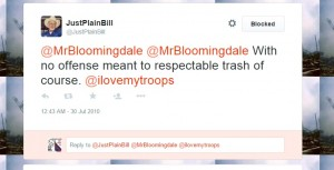 @JustPlainBill, friend of @KnottieNature and US Navy's @BostonMaggie - liberals and even assumed liberals are trash and they're ready to take up arms against their own citizens