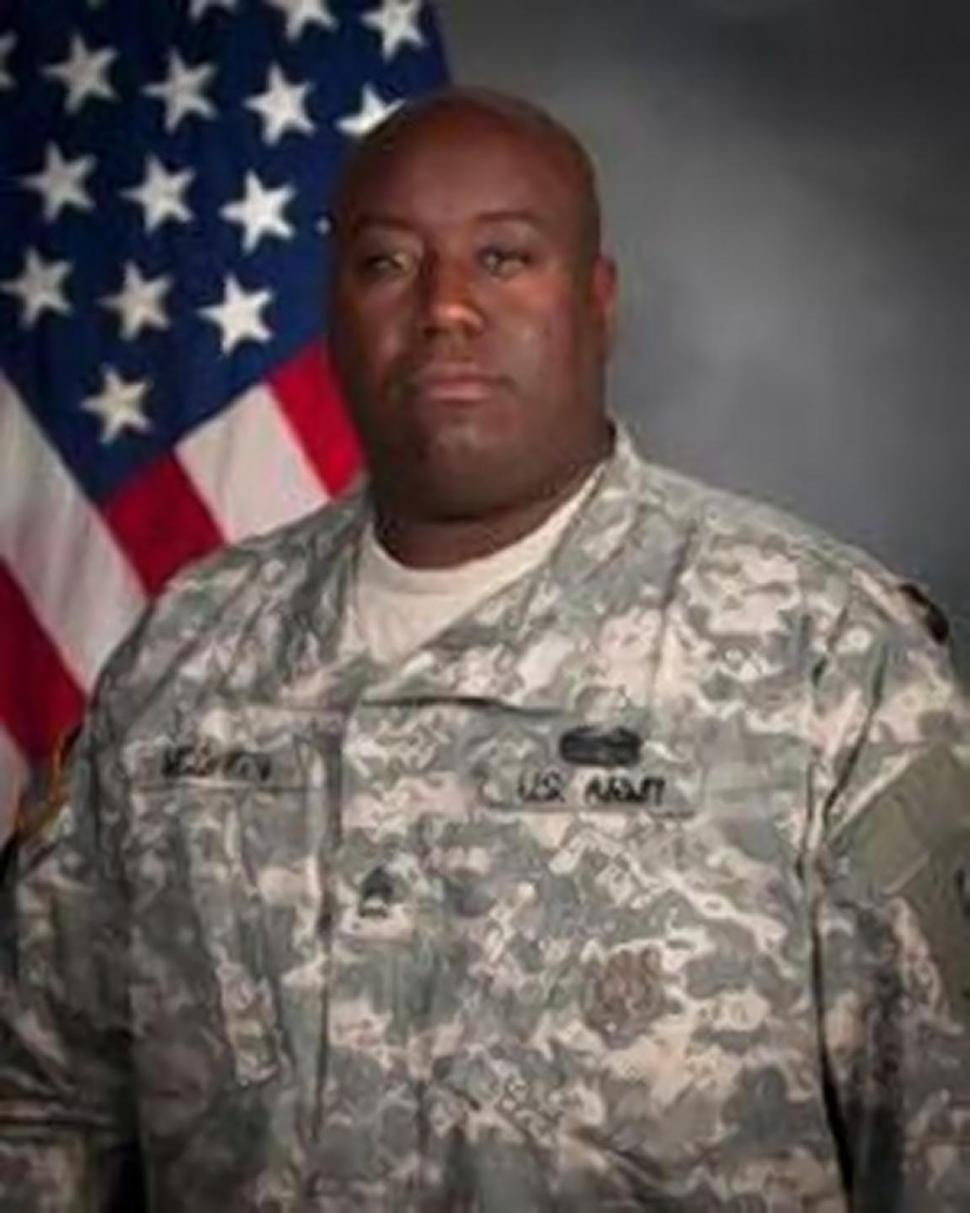 Gregory McQueen, a Fort Hood noncommissioned officer, was accused by a female private of recruiting her into a 'prostitution ring.' (photo via Handout)
